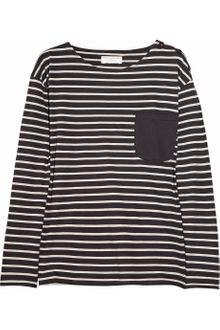 Chinti And Parker Striped Organic Cotton Tshirt - Lyst