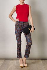 Erdem Connelly Trousers in Multicolor (black) - Lyst