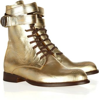 Esquivel Dublin Metallic Leather Laceup Boots - Lyst