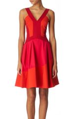Karen Millen Contrast Dress - Lyst