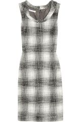 Oscar de la Renta Plaid Wool and Alpacablend Dress - Lyst