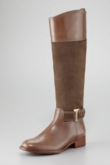 Tory Burch Tenley Suede Leather Riding Boot - Lyst