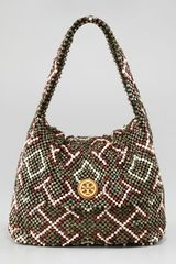 Tory Burch Wooden Beaded Shoulder Bag - Lyst