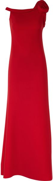 Valentino Silkcady Gown in Red - Lyst