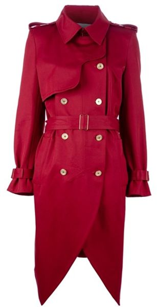 Yves Saint Laurent Long Trench Coat - Lyst