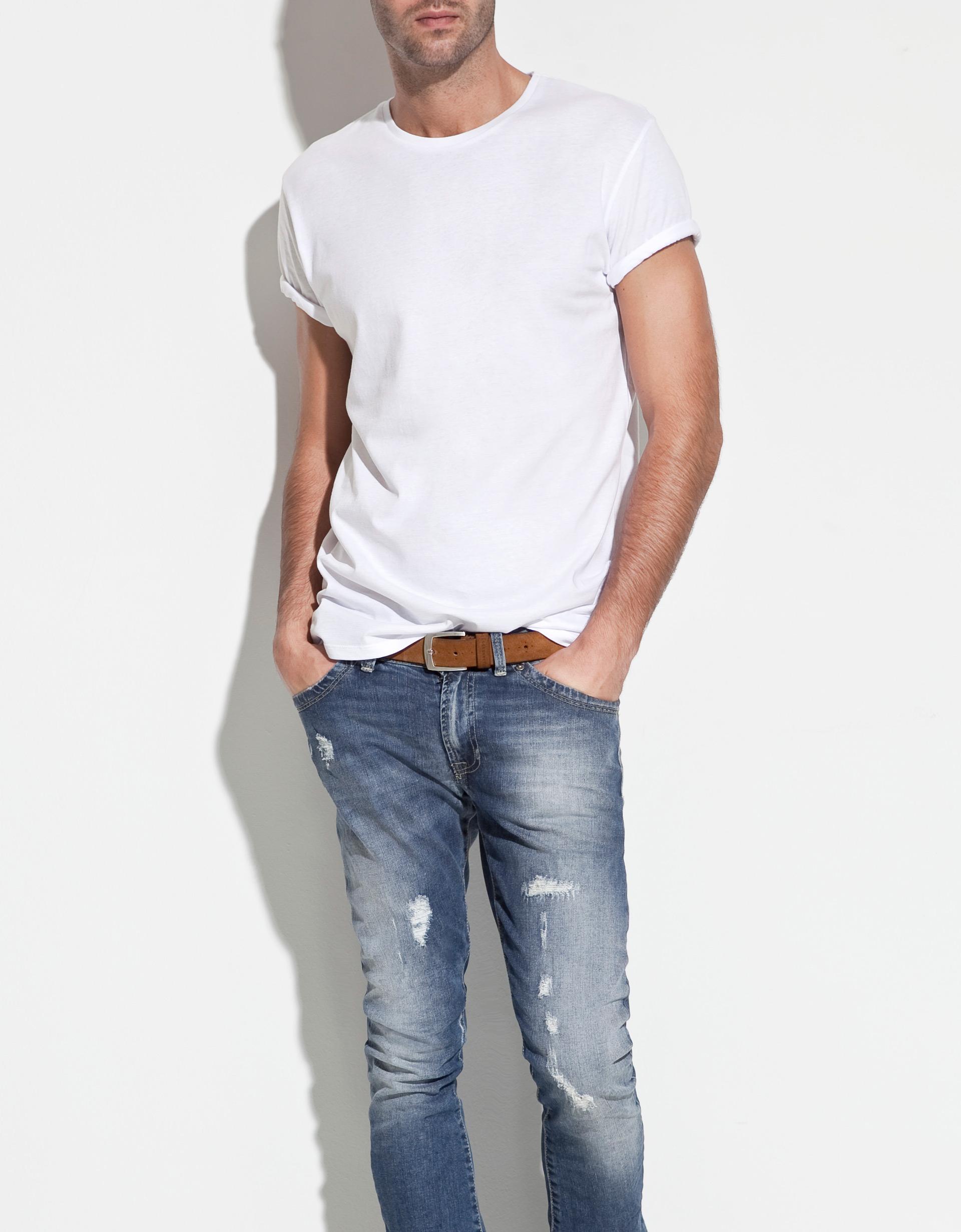 Zara Basic Relaxed Fit T Shirt In White For Men Lyst