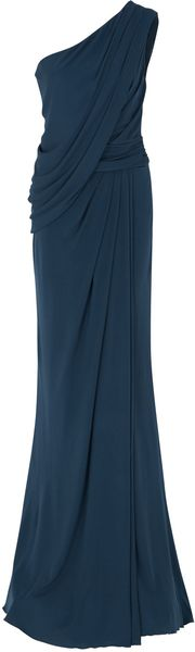 Elie Saab One Shoulder Draped Gown - Lyst