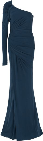Elie Saab One Sleeve Jersey Gown in Blue (nude) - Lyst
