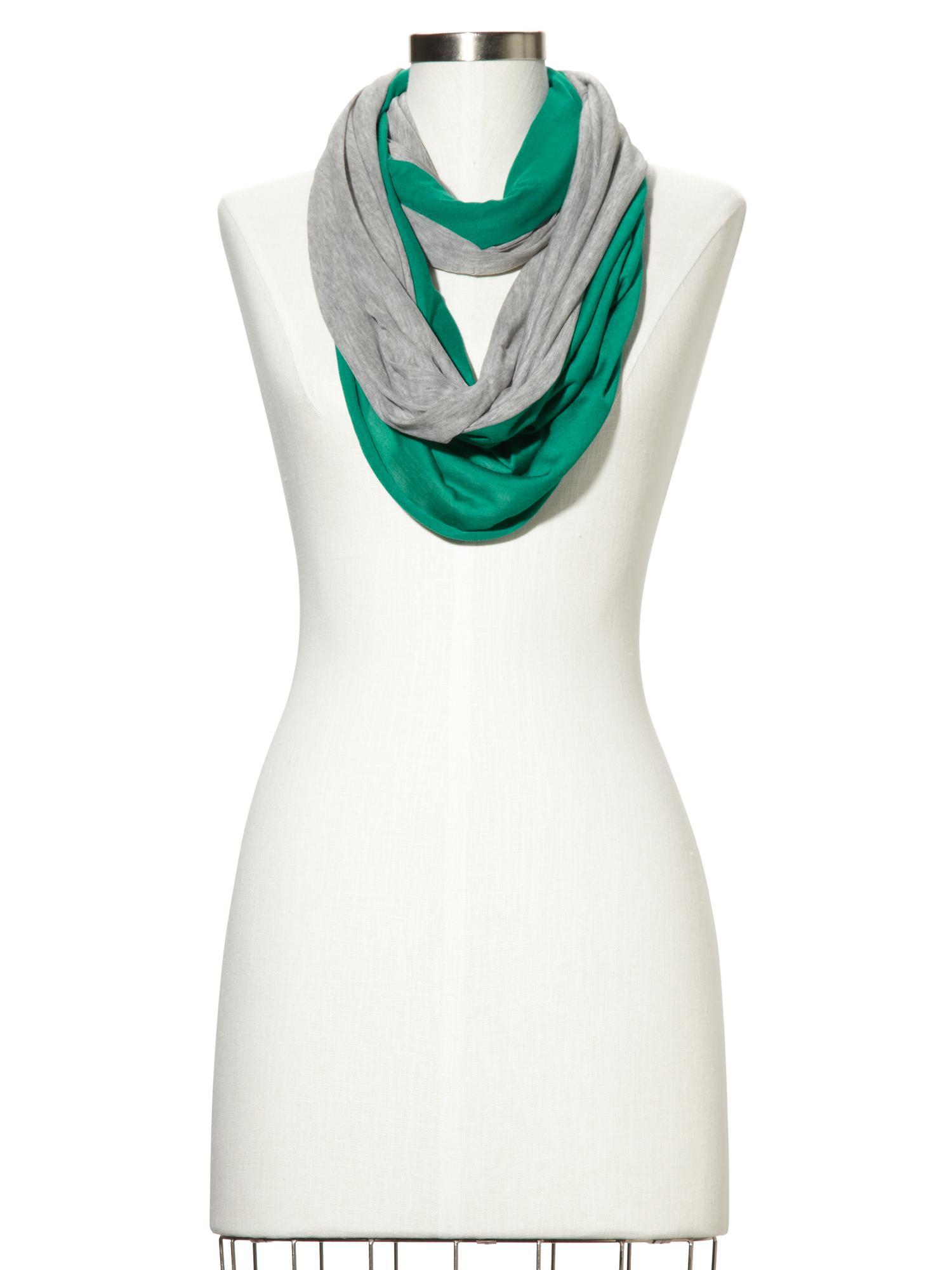 gap colorblock infinity scarf in green varsity green lyst