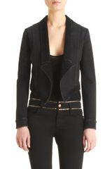 Givenchy Pointed Front Denim Jacket in Black (denim) - Lyst