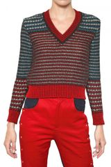 Kenzo Lurex Jacquard Wool Blend Knit Sweater - Lyst