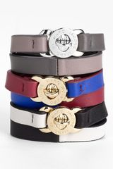 Marc By Marc Jacobs Katie Double Wrap Leather Bracelet - Lyst