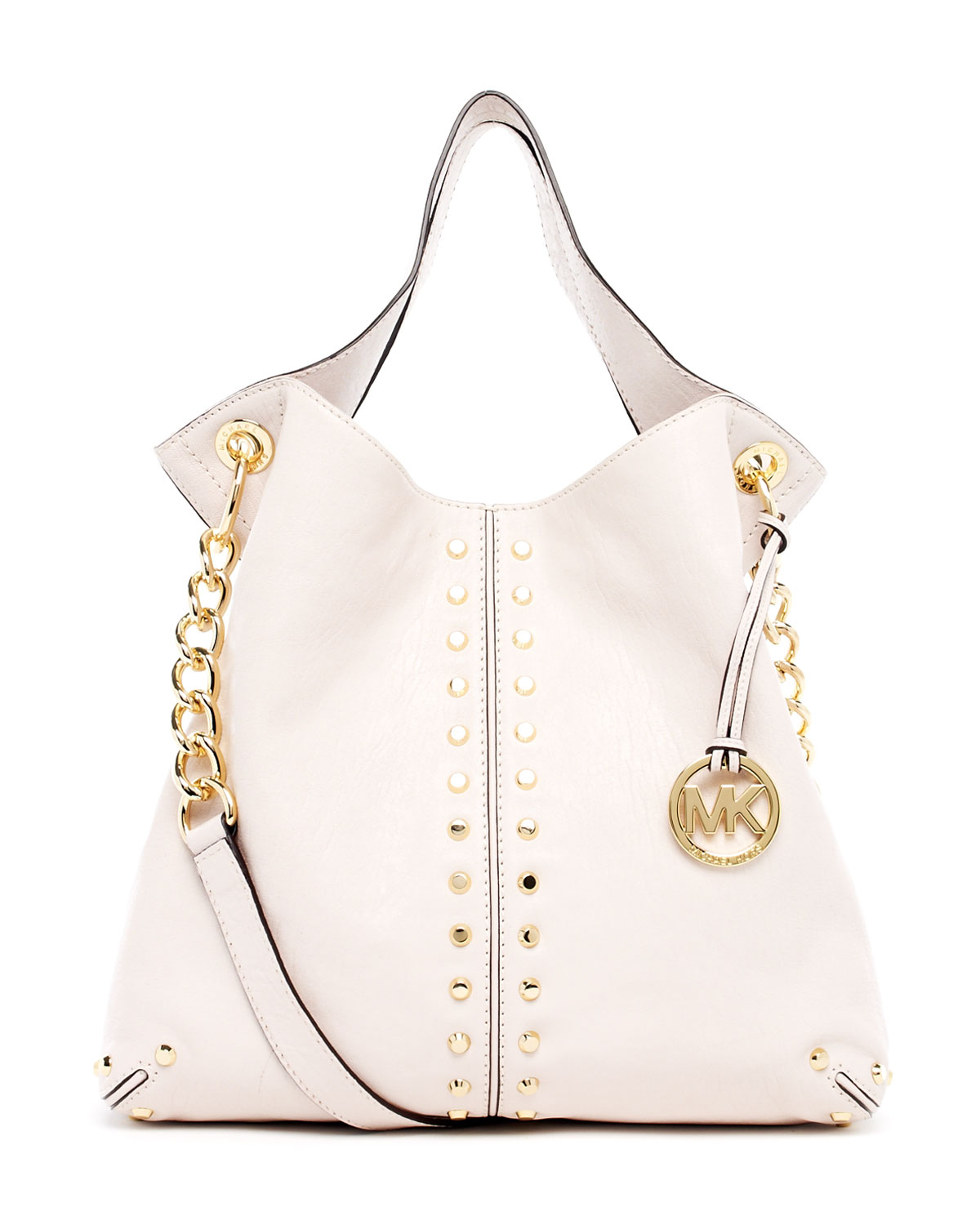 ff95202b623e Michael Kors Uptown Astor Large Shoulder Tote in White - Lyst