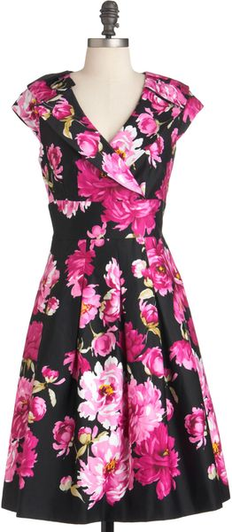 ModCloth If You Peonies Dress - Lyst