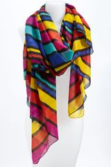 Nine West Light Bright Stripe Scarf - Lyst