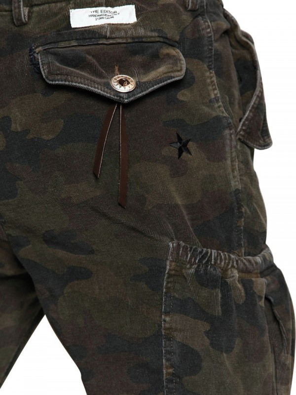 Saucony 18cm Corduroy Cargo Camouflage Trousers in Green for Men ...