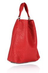 Alexander Wang Darcy in Cayenne Pebble Lamb with Black Nickel in Red (cayenne) - Lyst