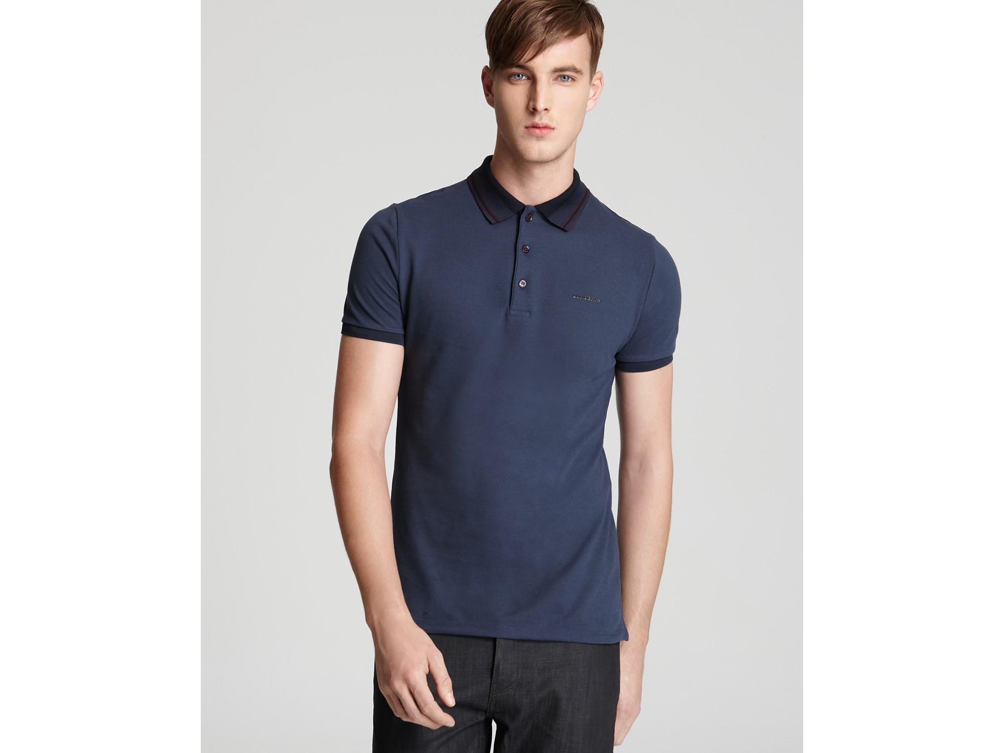 866638ea Burberry London Adler Slim Fit Polo in Blue for Men - Lyst