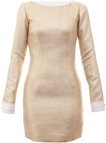 Charlotte Rouge Golden Dress - Lyst