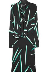 Diane Von Furstenberg Rosalie Printed Stretch Silk Wrap Dress - Lyst