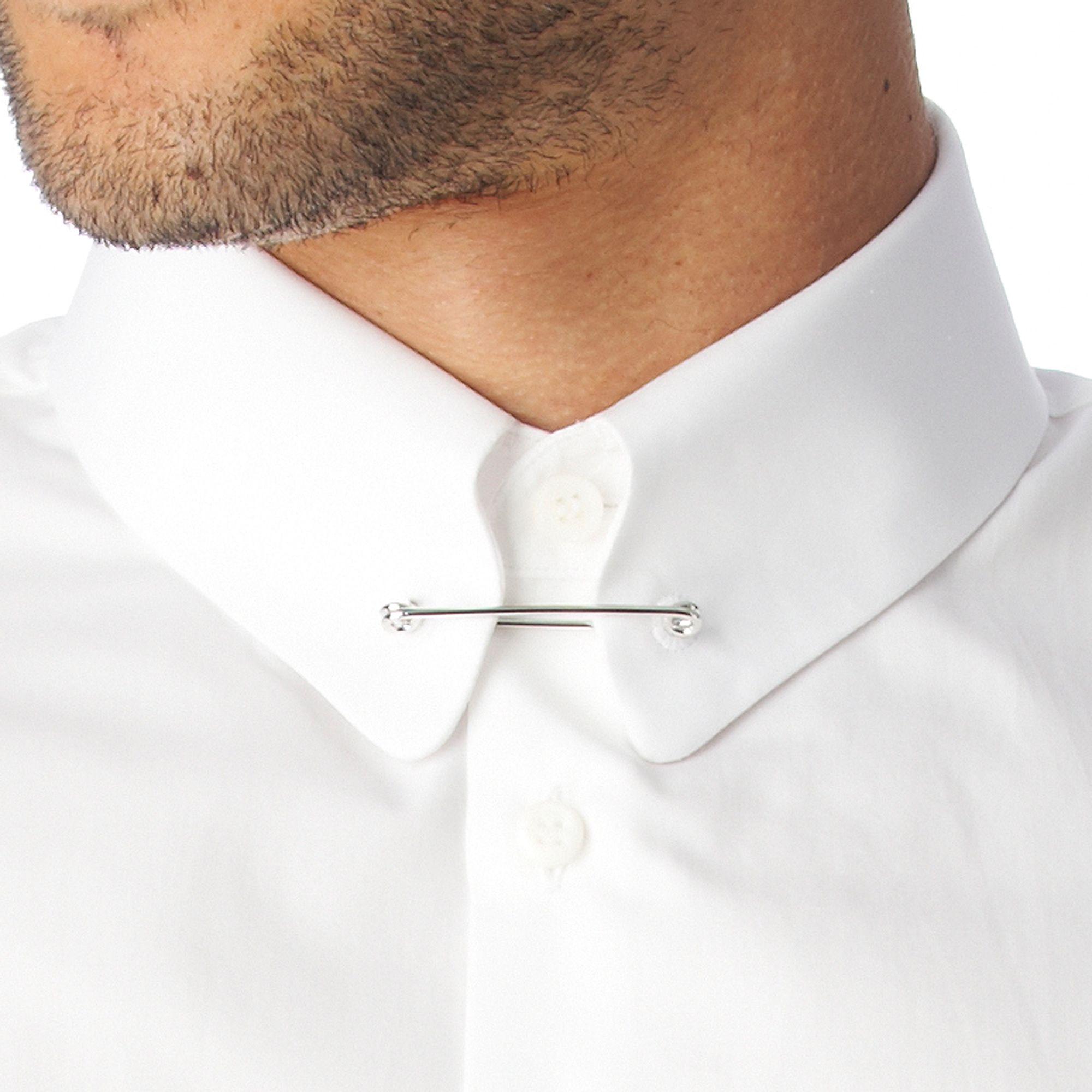 Lyst Dsquared Collar Bar Slim Fit Single Cuff Shirt In