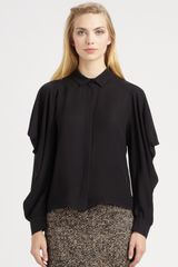 Giambattista Valli Silk Blouse in Black - Lyst
