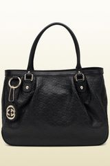 Gucci Sukey Black Guccissima Leather Tote - Lyst