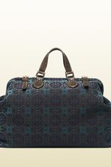 Gucci Goldmark Jacquard Cotton Carryon Duffle Bag - Lyst