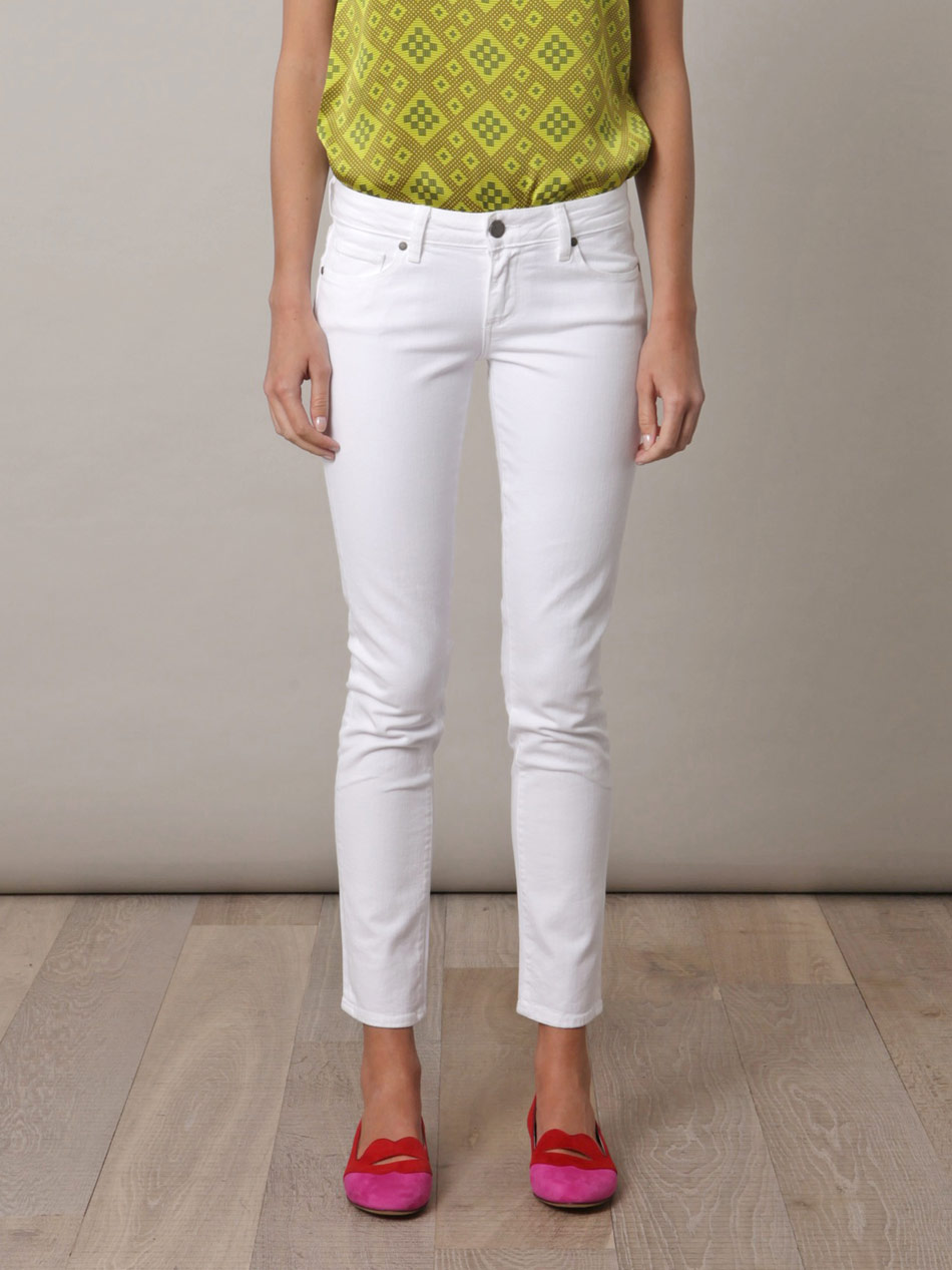Paige Jeans White - Jeans Am