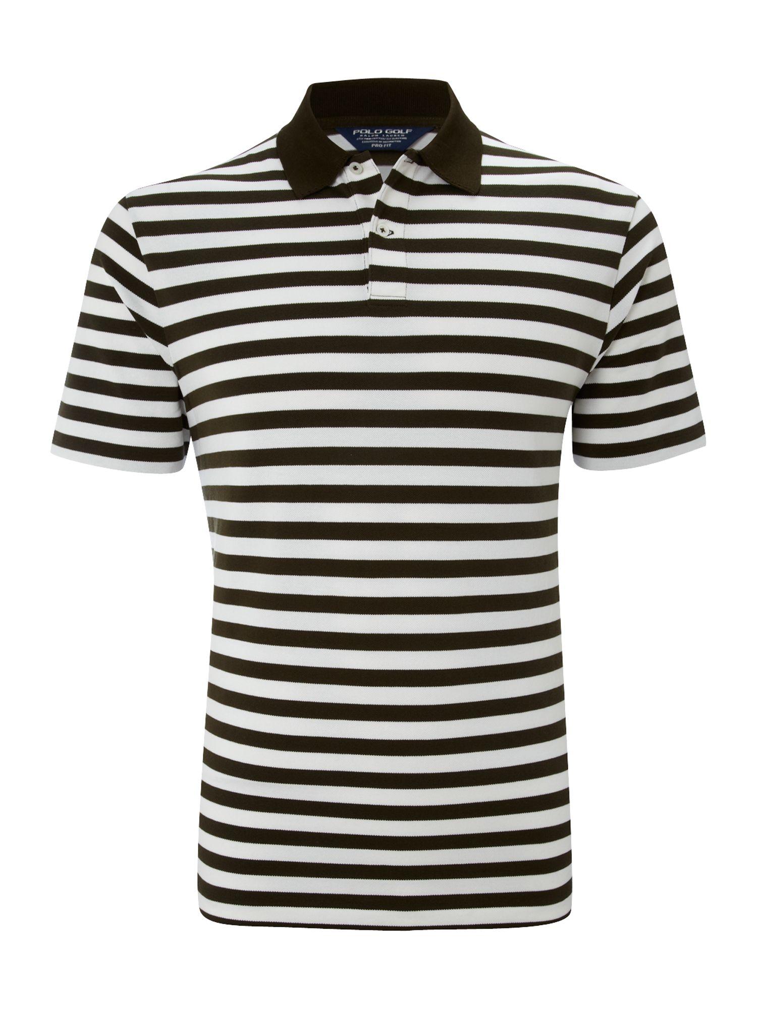 Polo Ralph Lauren Golf Striped Polo Shirt in White for Men ...