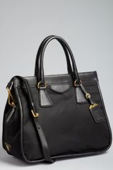 Prada  Nylon and Leather Large Convertible Tote in Black - Lyst