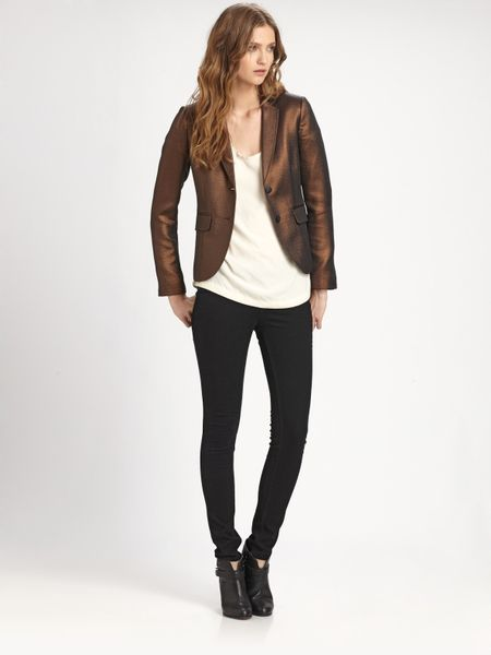 Rag & Bone Metallic Bailey Jacket in Brown (copper) - Lyst