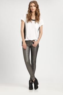 Rag & Bone Five Pocket Legging Pewter - Lyst