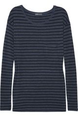 Vince Striped Jersey Top - Lyst