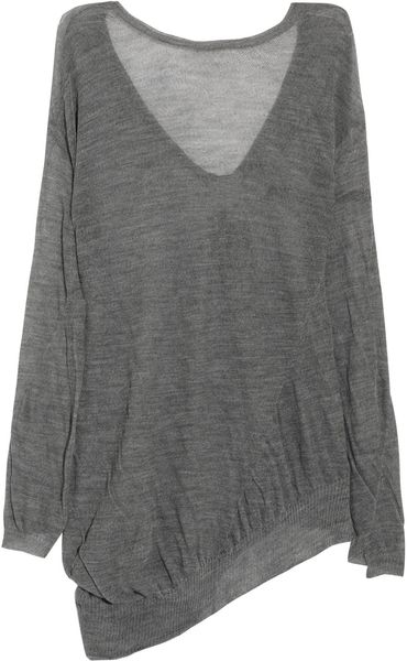 A.l.c. Blake Asymmetric Wool Sweater in Gray - Lyst
