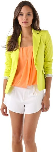 Alice + Olivia Elyse Blazer in Yellow