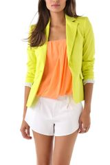 Alice + Olivia Elyse Blazer in Yellow - Lyst