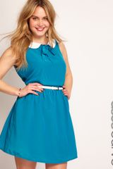 Asos Curve Exclusive Peter Pan Dress with Belt - Lyst