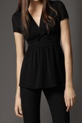 Burberry Silk Bow Detail Top - Lyst