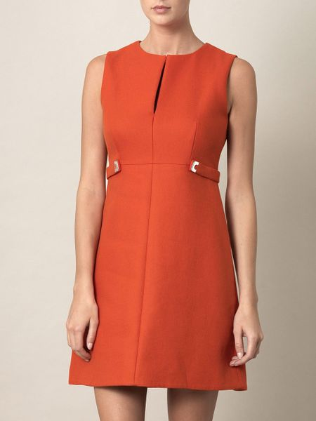 Diane Von Furstenberg Evette Dress in Orange - Lyst