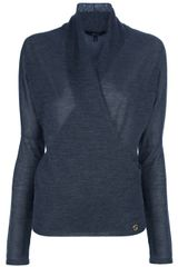 Gucci Shawl Collar Sweater in Blue (grey) - Lyst