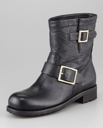 Jimmy Choo Youth Buckled Biker Boot - Lyst