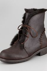 Jimmy Choo Dekel Rabbitlined Boot - Lyst