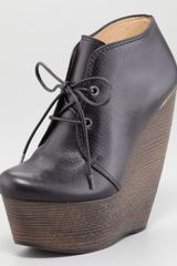 Lanvin Crazy Lace-Up Wedge Bootie - Lyst