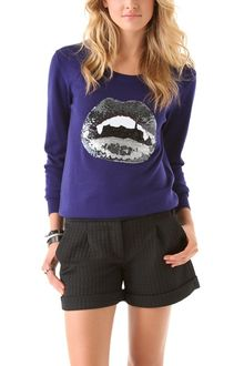 Markus Lupfer Vampire Lip Sequin Sweater - Lyst