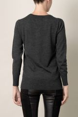 Markus Lupfer Sequin Vampire Sweater in Gray (charcoal) - Lyst