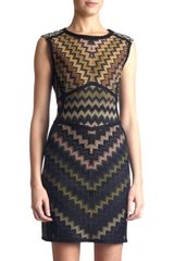 Missoni Zig Zag Mini Dress - Lyst