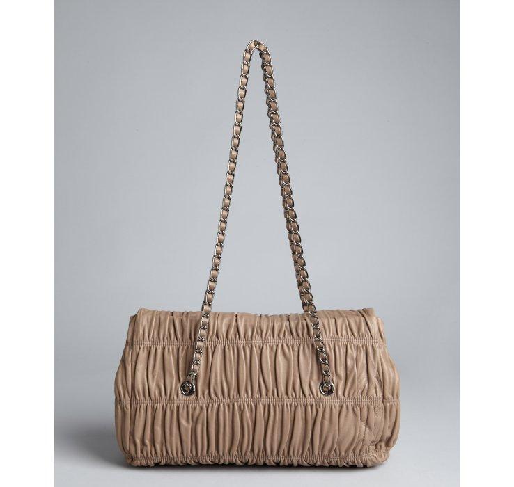 Prada Juta Gaufre Pleated Leather Chain Strap Shoulder Bag in ...