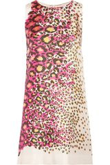 RED Valentino Printed Silk Twill Mini Dress - Lyst