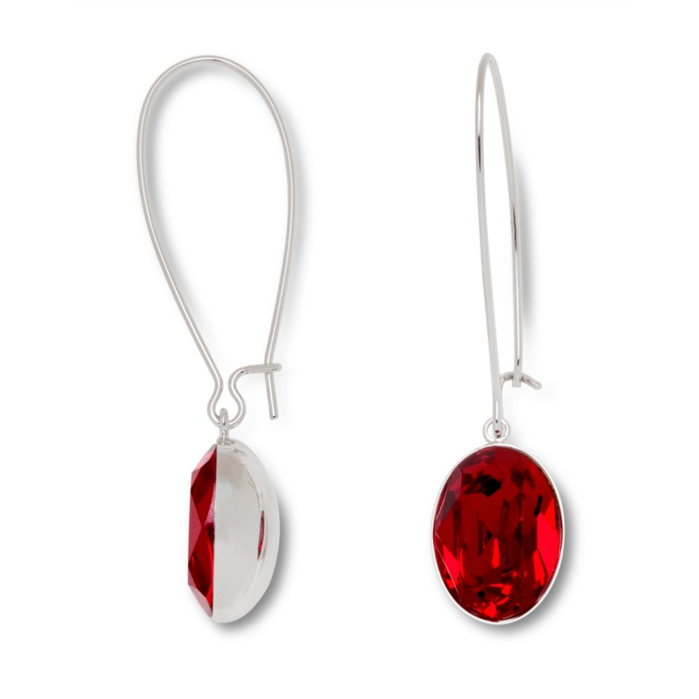 earrings teardrop red beaded crystal